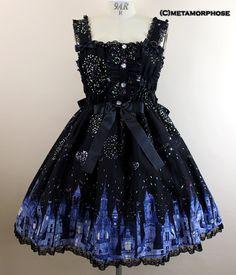 Fantasy Parade Shirred JSK by Metamorphose Temps de Fille Rococo Fashion, Lolita Fashion, Victorian Fashion, Gothic Fashion, Pretty Outfits, Beautiful Outfits, Cool Outfits, Goth Beauty, Harajuku Fashion