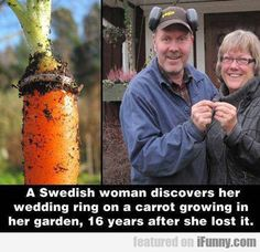 A Swedish Woman Discovers Her Wedding Ring...Just another reason to garden