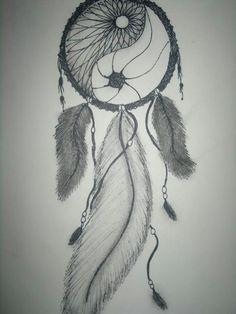 attrape rêve & yin yang