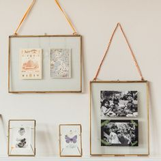 Glass Display Frames Brass - Grace & Glory Home