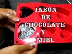 DIY JABON DE CHOCOLATE Y MIEL CON GLICERINA NATURAL - YouTube