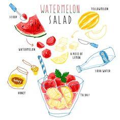 김혜빈 @moreparsley #watermelon #sala...Instagram photo | Websta (Webstagram)