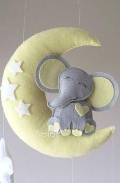 Baby mobile elephant mobile Crib Mobile by GiseleBlakerDesigns