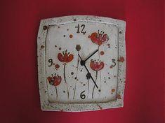 jejdanenky / makové hodiny Pottery Gifts, Handmade Pottery, Pottery Art, Clock Decor, Wall Clocks, Hand Built Pottery, Pottery Classes, Cat Wall, Polymer Clay Art