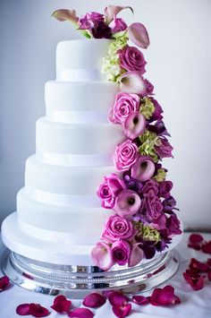 A super sweet pink and purple wedding for Lisa and Earl