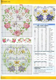 Hearts cross stitch pattern from Gallery.ru / Photo # 32 - CSG 37 - Labadee