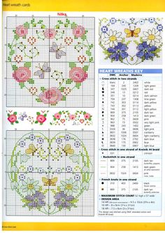 Hearts cross stitch pattern from Gallery.ru / Photo # 32 - CSG 37 - Labadee