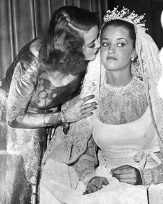 Bette Davis ~ (1908 – 1989) with daughter Barbara Davis who married Jeremy Hyman at the tender age of just 16 on New Year's Eve 1964, and some 49 years later the couple remain happily married!
