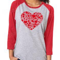 Valentines Day Gift shirt womens t-shirt Red Heart Vintage baseball raglan sleeve tshirt funny w Source by etsy Valentine Shirts, Funny Valentine, Valentine Day Gifts, Vinyl Shirts, Cool Shirts, Tee Shirts, Graphic T Shirts, Raglan, Valentinstag Shirts