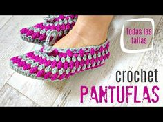 Learn to crochet easy puff stitch slippers. Very useful and comfortable with modern design. These slippers are possibly the cutest I've ever seen in crochet life. Crochet Boots, Love Crochet, Learn To Crochet, Diy Crochet, Crochet Bikini, Quilt Patterns, Crochet Patterns, Knitted Slippers, Sock Shoes