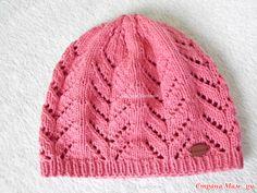 Детская шапка «Весенний ажур». Авторская работа + описание Crochet Kids Hats, Knitted Hats, Knit Crochet, Baby Cardigan, Baby Sweaters, Baby Hats, Diy And Crafts, Kids Fashion, Knitting