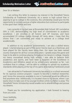 Scholarship Motivation Letter   Motivational letter ...
