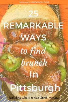 Brunch Pittsburgh | 25 Remarkable Ways To Find Brunch In Pittsburgh [Including where to find $6.25 Mimosas]...Click through for more!  Brunch In Pittsburgh Pittsburgh Brunch