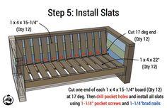 Rogue Engineer { Free Plans } Outdoor Wood Plank LoveseatRogue Engineer { Free…