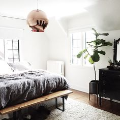 """""""Finally found a layout that works in the master bedroom! We are both sleeping better, too. Funny how that works."""""""