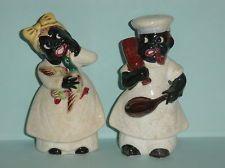 Black Americana Mammy & Chef Salt & Pepper Shakers