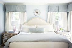 Master bedroom window treatment www.normandeauwc.com