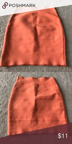 orange Bandage skirt Size small hot miami styles orange bandage skirt Skirts Mini