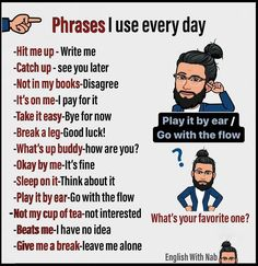 Reposted from English With Nab - 👉Common Phrases! I use every day, do you ha. Reposted from English With Nab - 👉Common Phrases! I use every day, do you have one? Comment it below :✌️. English Sentences, English Vocabulary Words, Learn English Words, English Phrases, English Idioms, English Lessons, French Lessons, Spanish Lessons, English Tips
