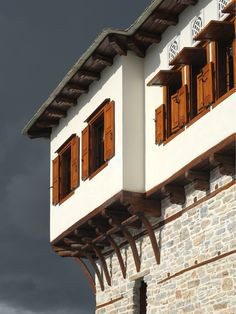 Windows _ Pelion | traditional | architecture | mansion | renovation | reuse | design _ visit us at: www.philippitzis.gr Porches, Skiathos, Interior Exterior, Reuse, Windows, Traditional, Architecture, House Styles, Design