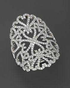 Djula Jewelry 18K White Gold Multi-Heart Diamond Lace Ring, 1.17 ct. t.w. | Bloomingdale's