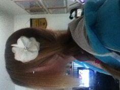 My side braid w/ flower