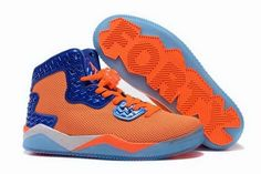 promo code 56864 0ffce Mens Jordan Air Spike 40 Forty PE Total Orange Total Orange Game Royal-White