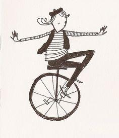 Monociclista por dwelldeep