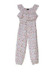0e2bdab1dd5 The Alessandra jumpsuit features off the shoulder frill sleeves and is  elasticated at waist and leg cuffs. Colour Shown  Confetti Print Cotton  Voile Cotton