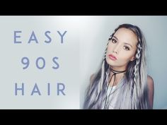 EASY 90s HAIR | Kirsten Zellers - YouTube