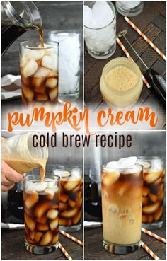 Try this delicious, copycat recipe for Starbucks Pumpkin Cream Cold Brew Coffee at home! You'll love this coffee house inspired drink recipe that is easy to make! Coffee Drink Recipes, Starbucks Recipes, Starbucks Drinks, Coffee Drinks, Cold Brew Coffee Recipe Starbucks, Iced Coffee, Best Cold Brew Coffee, Coffee Art, Hot Coffee