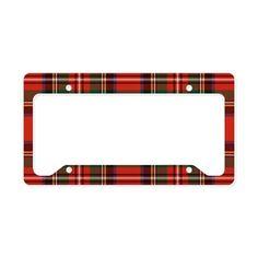 Stewart Tartan Pattern License Plate Holder