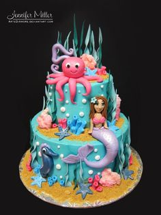 Under The Sea Cake Toppers - Decor Cake Picture for Parties