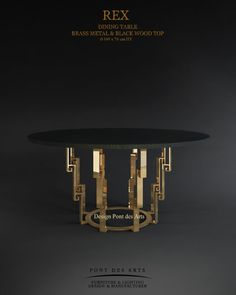 Pont des Arts Art Furniture, Basement Furniture, Italian Furniture, Steel Furniture, Dining Furniture, Furniture Design, Dining Table Design, Coffee Table Design, Woodworking Ideas Table