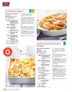 Shortcut - Cannellonis légers, Gratin de persil tubéreux et lapin Cannelloni, Four, Cantaloupe, Tomatoes, Philly Cream Cheese, Noodles, Gratin, Kitchens