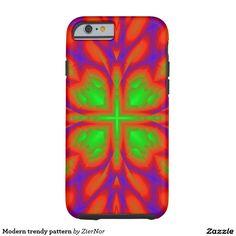Modern trendy pattern tough iPhone 6 case
