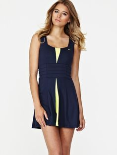 Nike Pleated Tennis Dress, I want! Nike Tennis Dress, Tennis Wear, Tennis Skirts, Le Tennis, Tennis Clothes, Nike Clothes, Netball Dresses, Jersey Shirt Dress, Tennis Workout