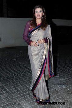 Raveena Tandon in Shimmer Saree | sareetimes