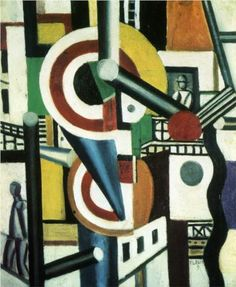 Fernand Leger (1881 - 1955) | Cubism | Two discs in the city - 1918