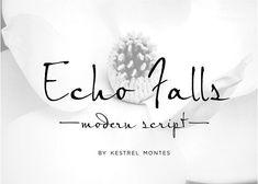 Echo Falls Modern Script by InkMeThis on @creativemarket