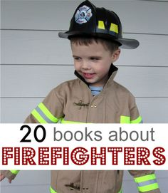 Book list of fire truck books for kids. Firetruck picture books for toddlers and preschoolers.