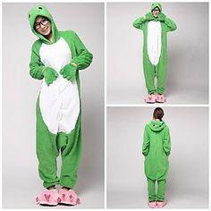 b42cf01c8a   24.99  Adults  Kigurumi Pajamas Frog Onesie Pajamas Coral fleece Green  Cosplay For Men and Women Animal Sleepwear Cartoon Festival   Holiday  Costumes