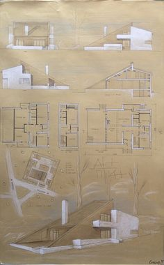Klauzura 2015 # house # individual # clause # resi …… – Hi… Architecture Concept Drawings, Architecture Sketchbook, Architecture Board, Residential Architecture, Romanesque Architecture, Cultural Architecture, Education Architecture, Modern Architecture, Architecture Presentation Board
