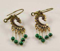 Antique Inspired Bronze Filigree Chandelier Earrings by Doraschi, $15.00