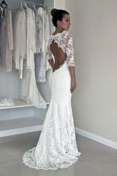 La tendance robe de mariée dentelle. Backless Wedding DressesWedding ... 006f09764176