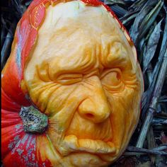 Carved pumpkin by CO artist