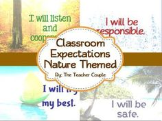 Classroom Expectations - Nature Theme, free