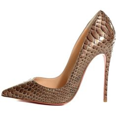 Designer Clothes, Shoes & Bags for Women Bronze Shoes, Metallic Shoes, Hot Heels, Christian Louboutin Heels, Louboutin Shoes, High Heel Pumps, Pumps Heels, Pointed Heels, Killer Heels