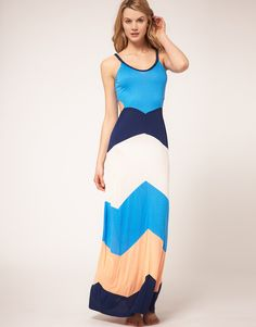 Love the colors of this maxi dress, and those cut outs add some unexpected sex appeal.