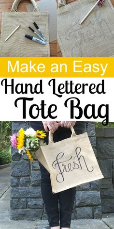 Make an Easy Hand Lettered Tote